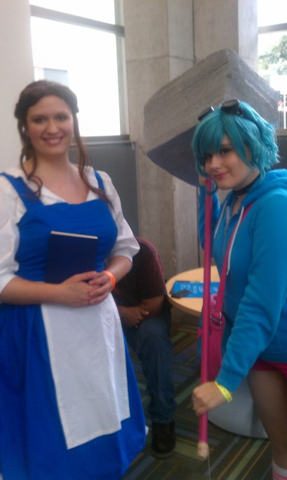 Me as Belle and Mia as Ramona
