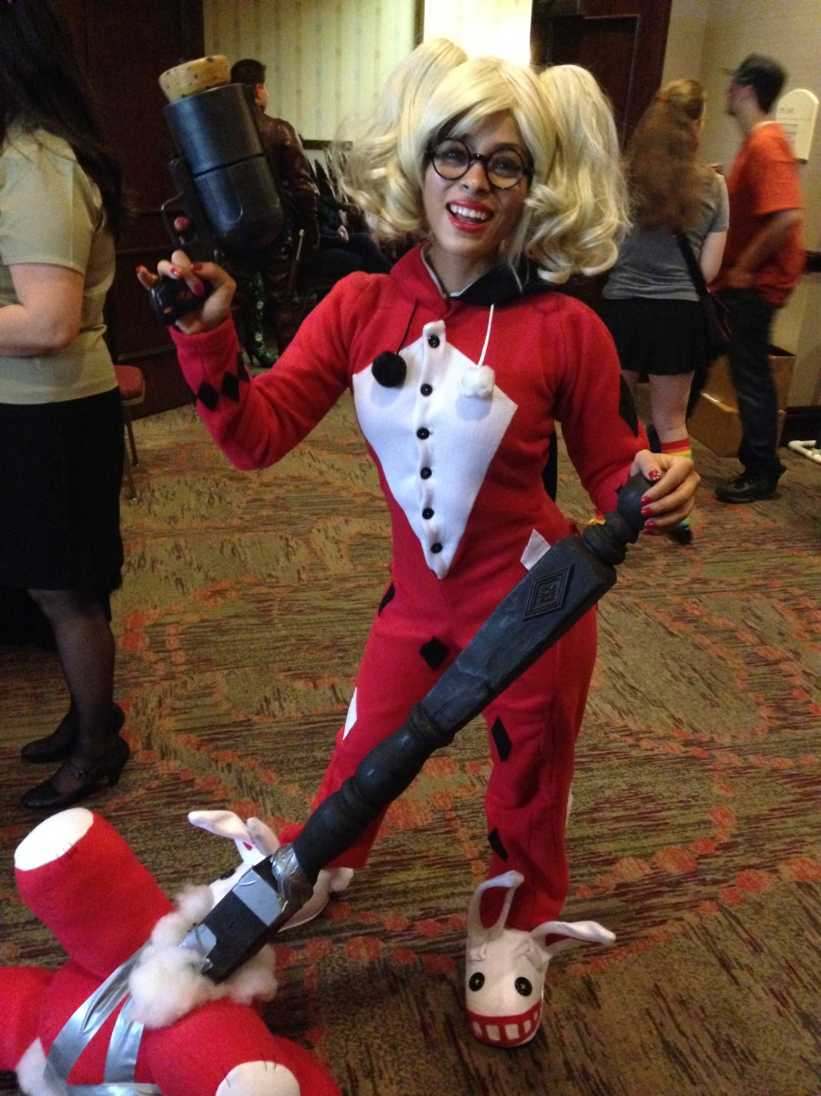 The adorbs Enasni Volz as PJ Harley Quinn.