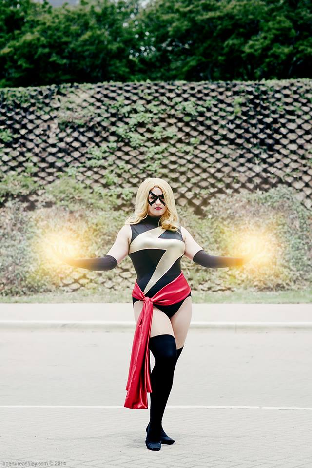 Ms. Marvel was made largely from scraps. I had leftover gold from Supergirl and black from Rogue.