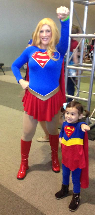 mom and small supergirl