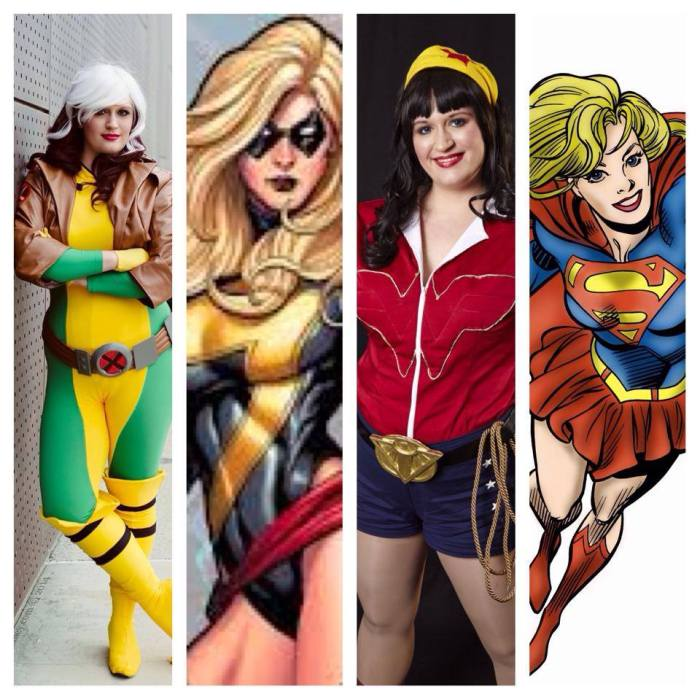 My costume line-up for DCC.