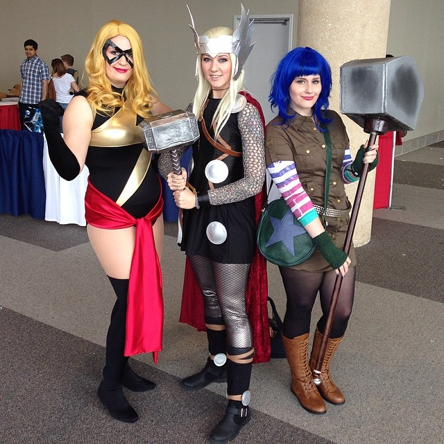 With Glitzy Geek Girl as Lady Thor and Mia Moore as Ramona. Love these ladies!