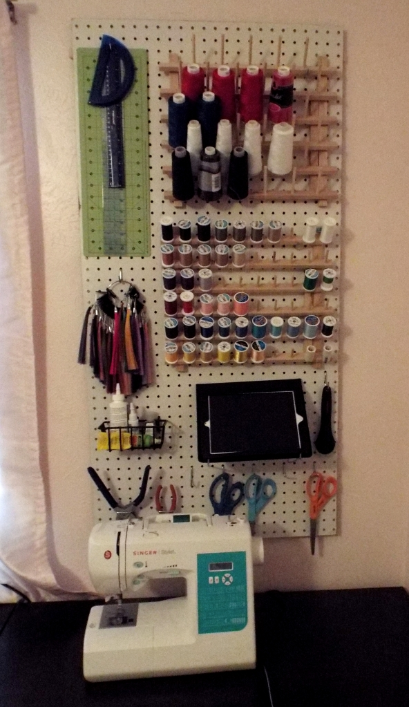 Having all of your tools easily accessible is also handy.