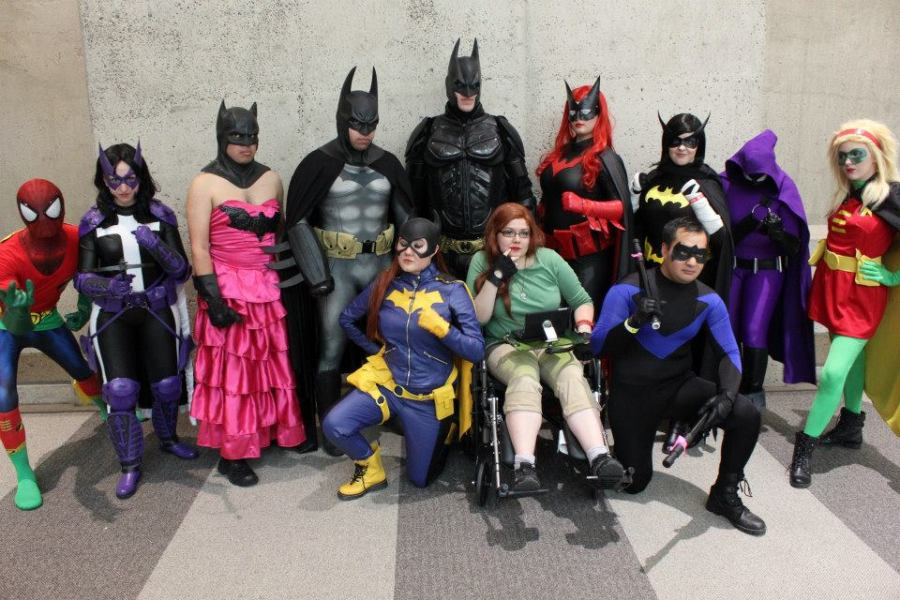 BAT-FAM! Photo by Kristin Bomba.