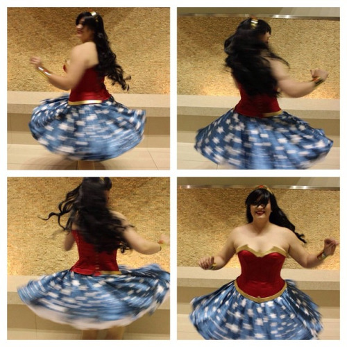 Twirl-tastic skirt powers activate! Photos by Poisonous Kristin on FB.